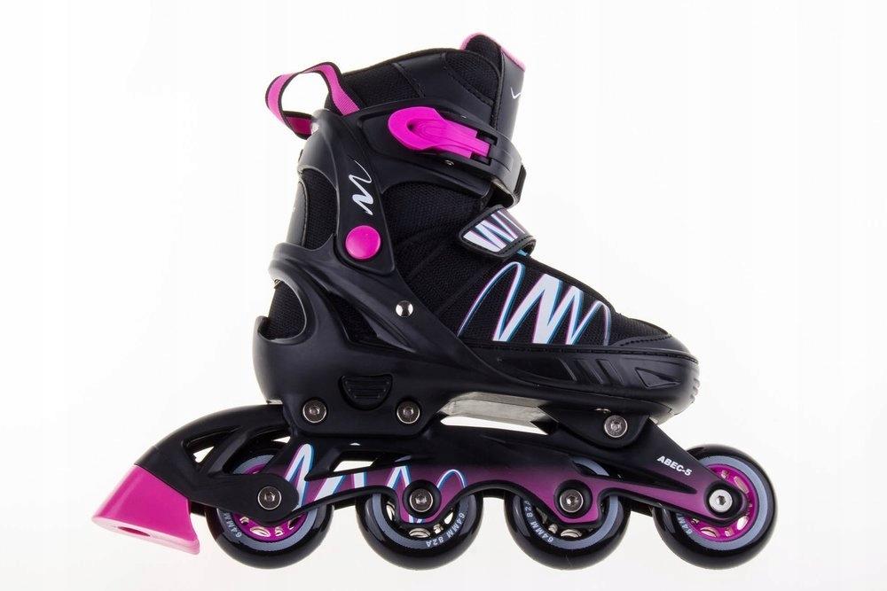 Dievčenské nastaviteľné kolieskové korčule Pinky # XS (29-32)