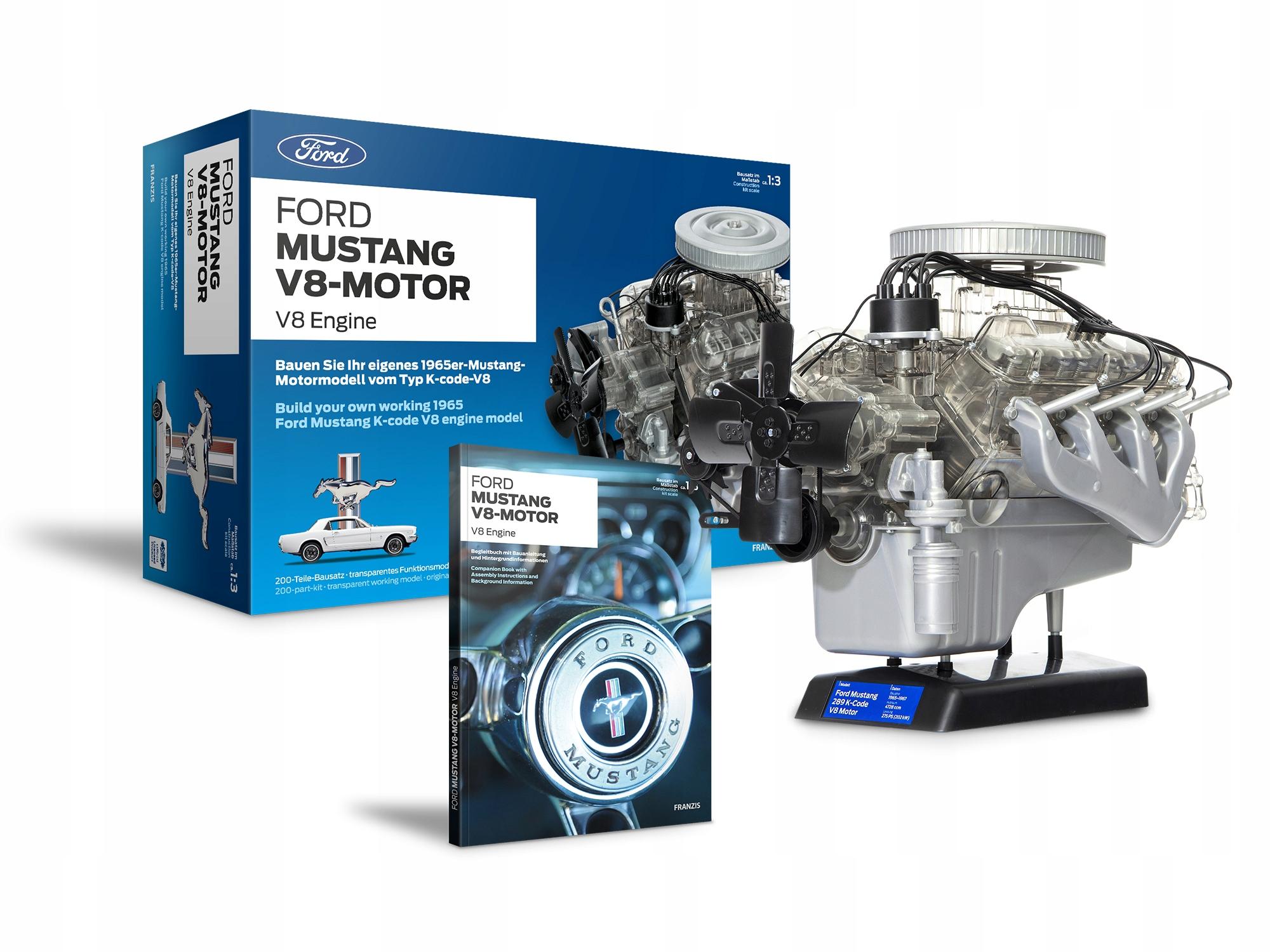 Model motora Ford MUSTANG V8 na skladanie NOVINKA