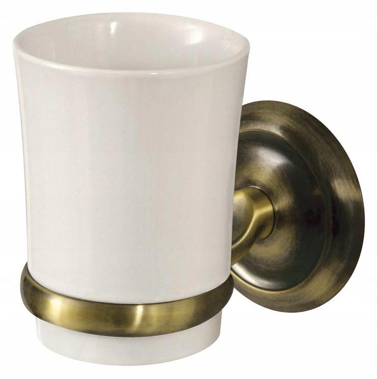 Nástenný retro keramický hrnček do kúpeľne