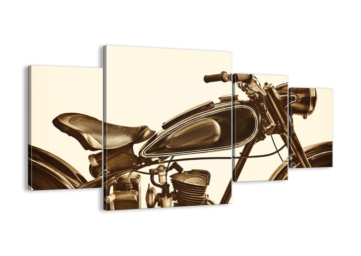 Maľovanie na plátno motocykel retro DL160x90-4086