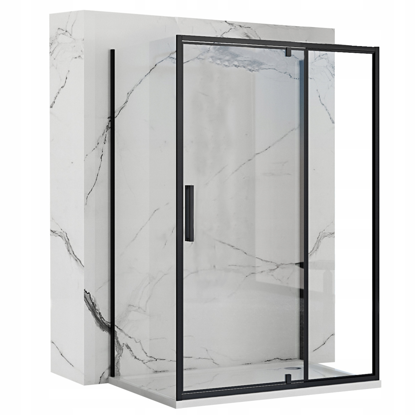 Čierna nástenná skrinka Rapid Swing 90x140 cm