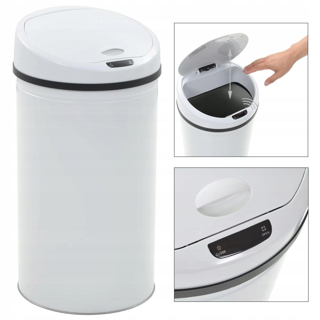 Odpadkový kôš so senzorom, 42 L, biely
