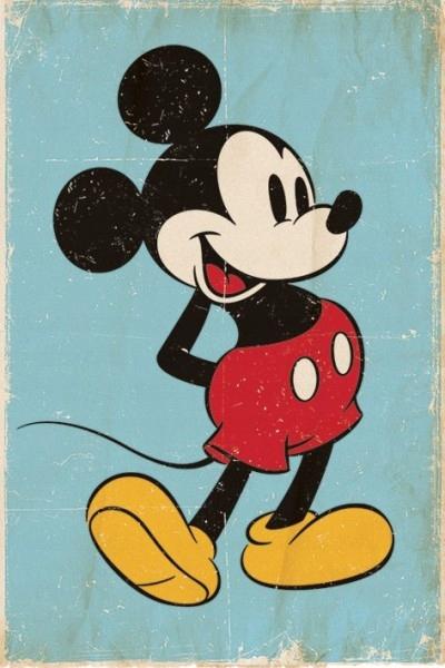 Mickey mouse Mickey mouse Retro plagátu 61x91,5 cm