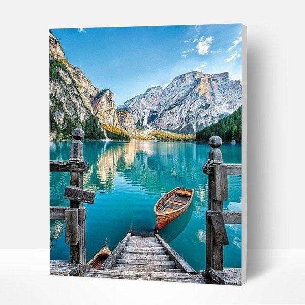 Item Picture to PAINTING BY NUMBERS-Boat on lake