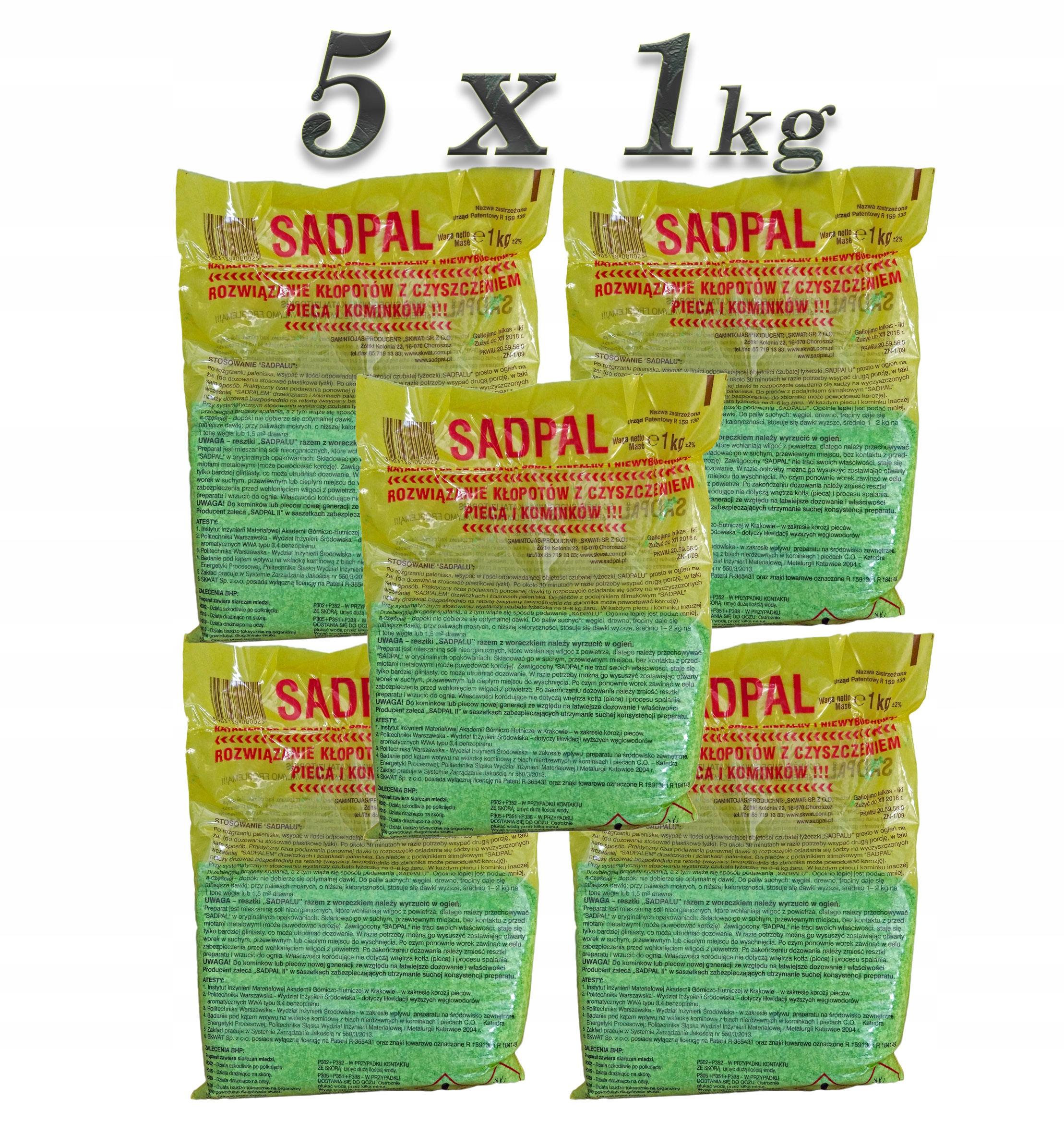 Katalizator do spalania sadzy SADPAL 1kg - 5 szt.