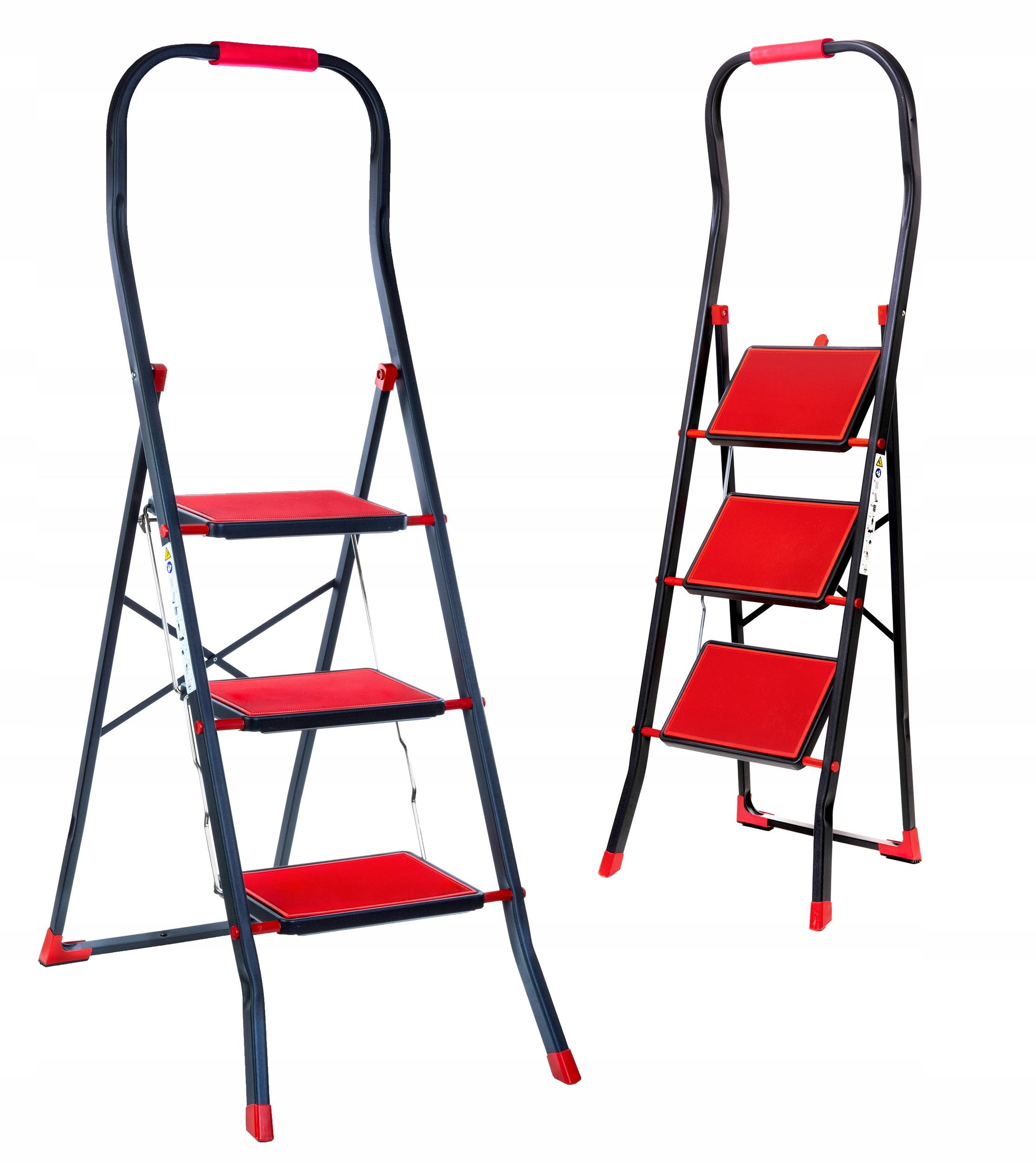 3-х ступенчатая лестница, сталь, нескользящая, прочная