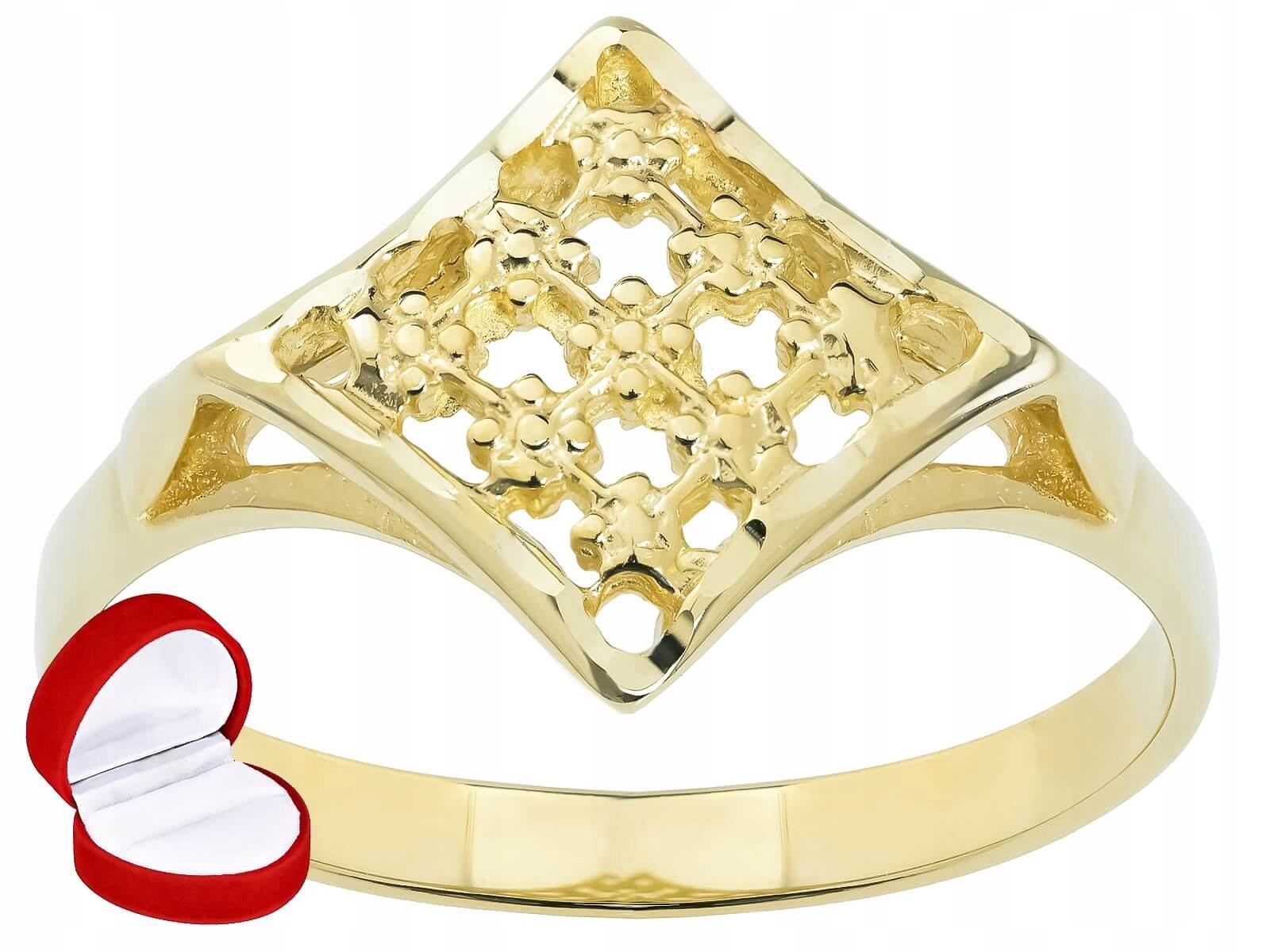 Zlatý prsteň s openwork - vzor nacinany