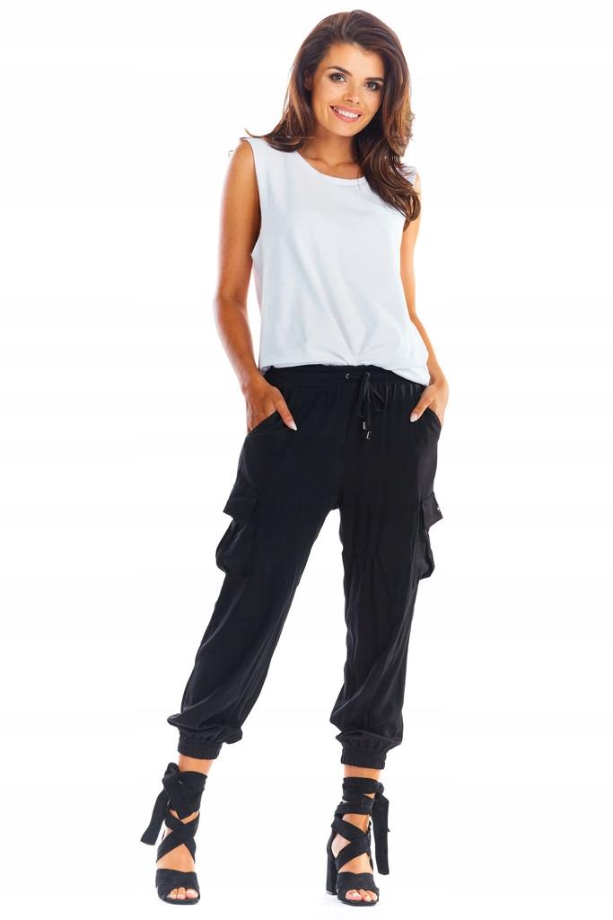 Luźne Spodnie Bojówki z Kieszeniami roz XL