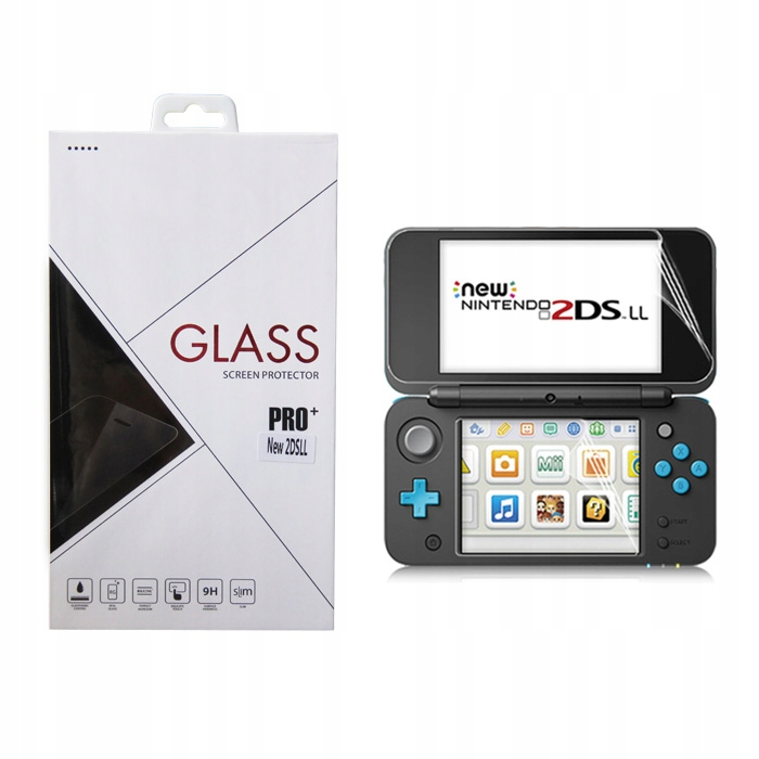 Item Tempered glass, tempered glass + aluminum New 2DS XL