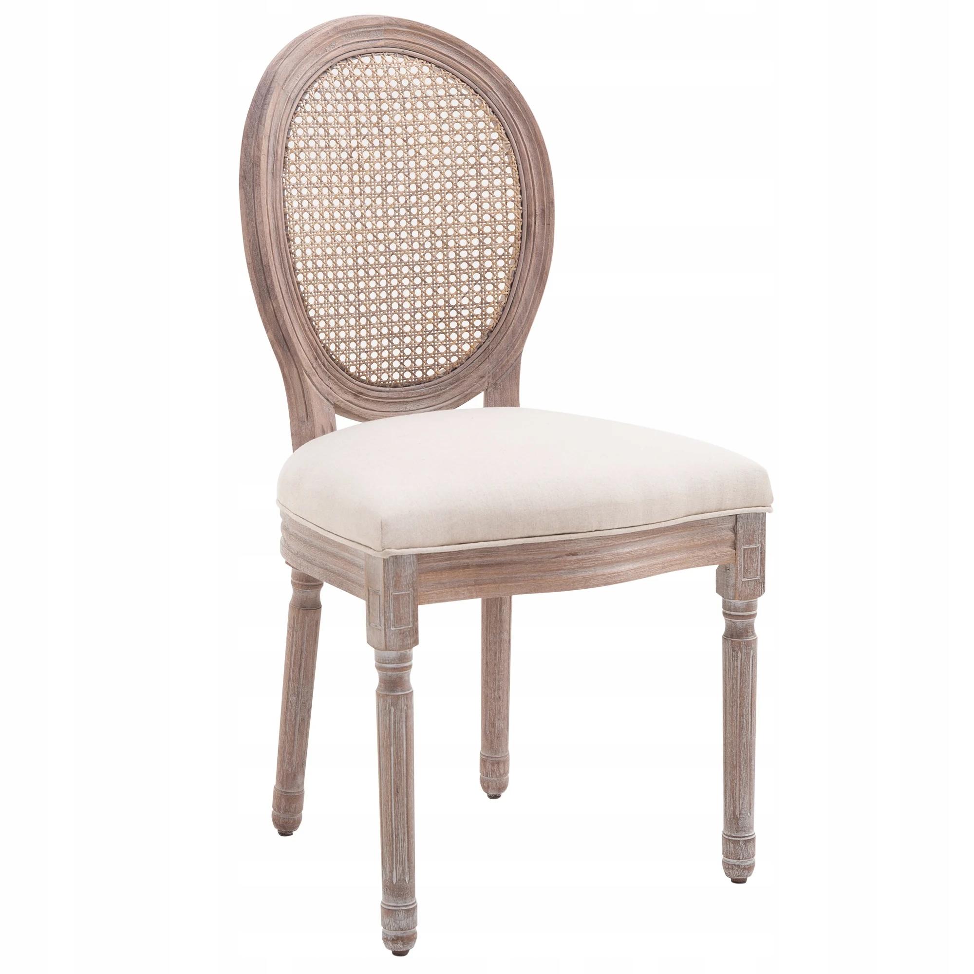 Jedálenská stolička Kuchynská čalúnená ratanová retro