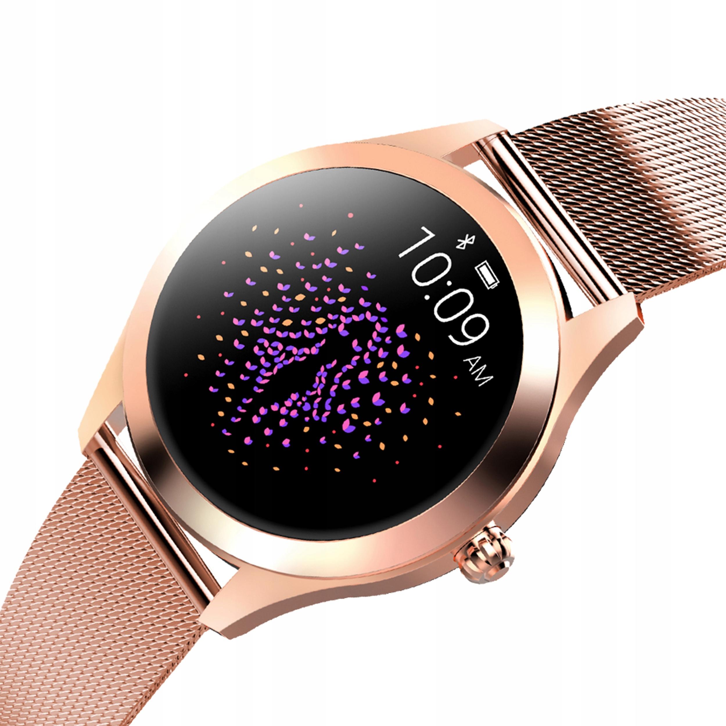 Kvinners smartklokke KW10 OLED DESIGN skritt pulssyklus Type smartbånd