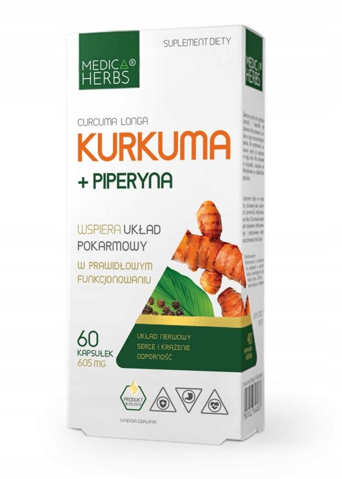 CURCUMA i PIPERYNA turmeric KURKUMA Medica Herbs