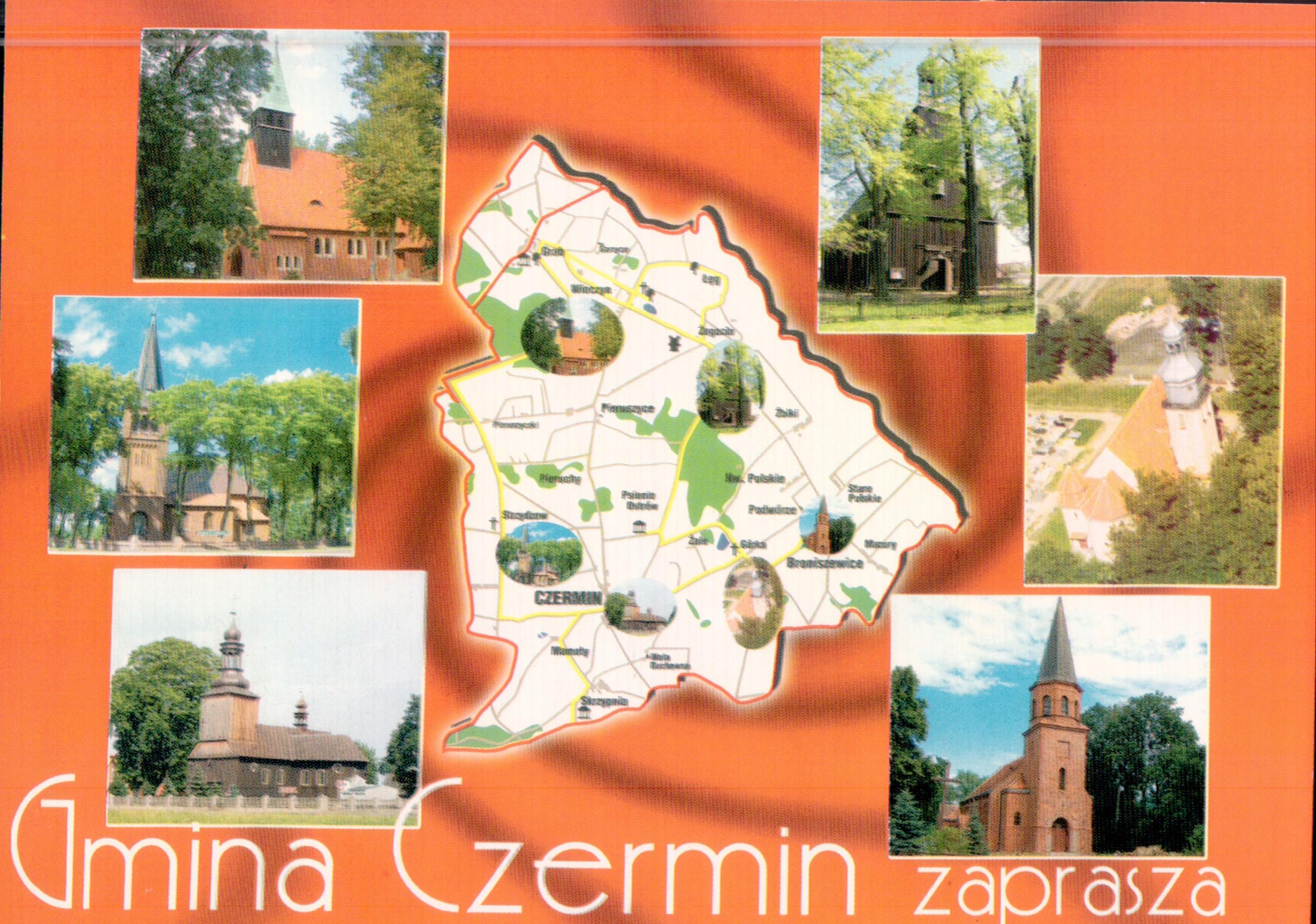 Czermin Gmina Mapka Mozaika Koscioły
