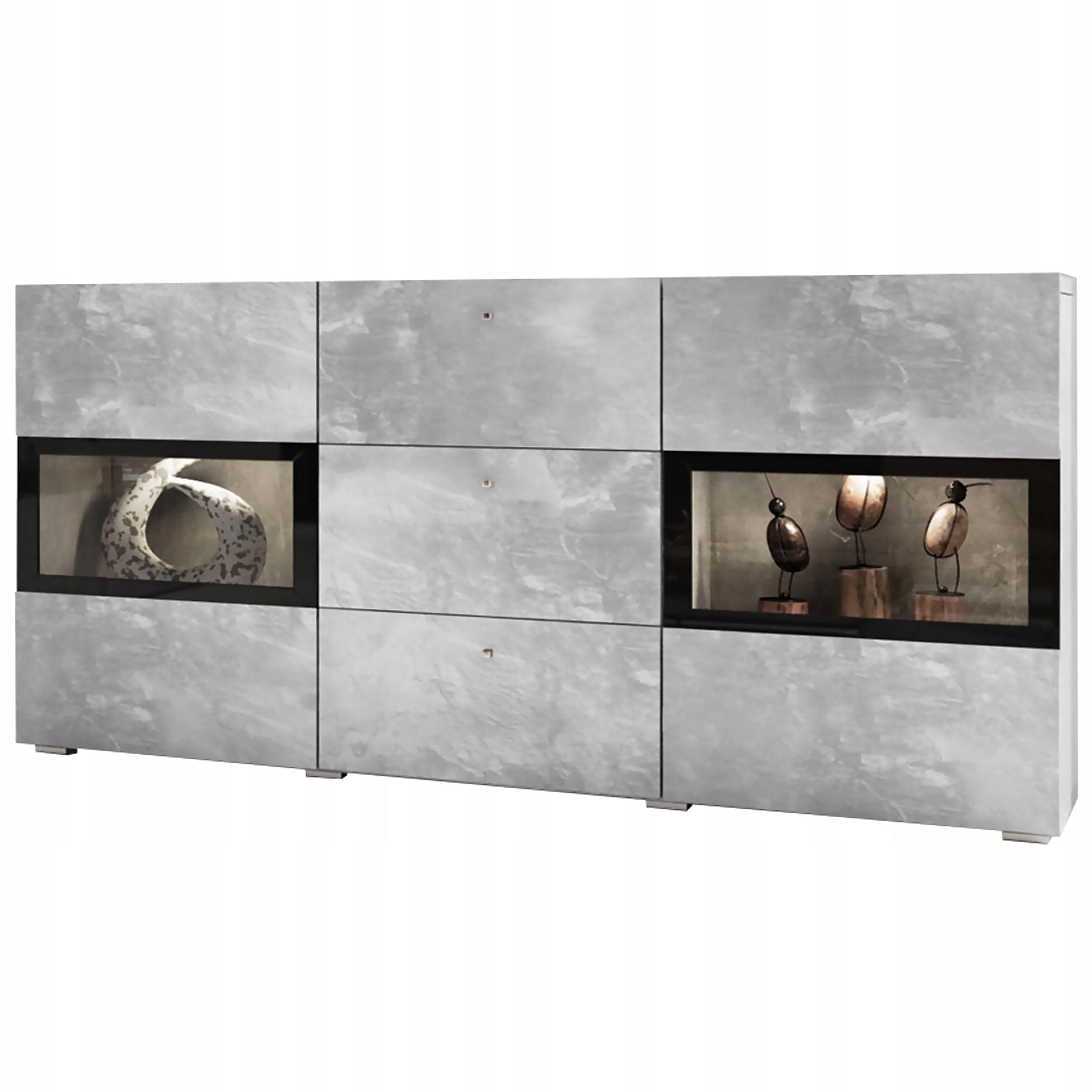 Комод 132 см белый глянцевый шкаф ящики для гостиной