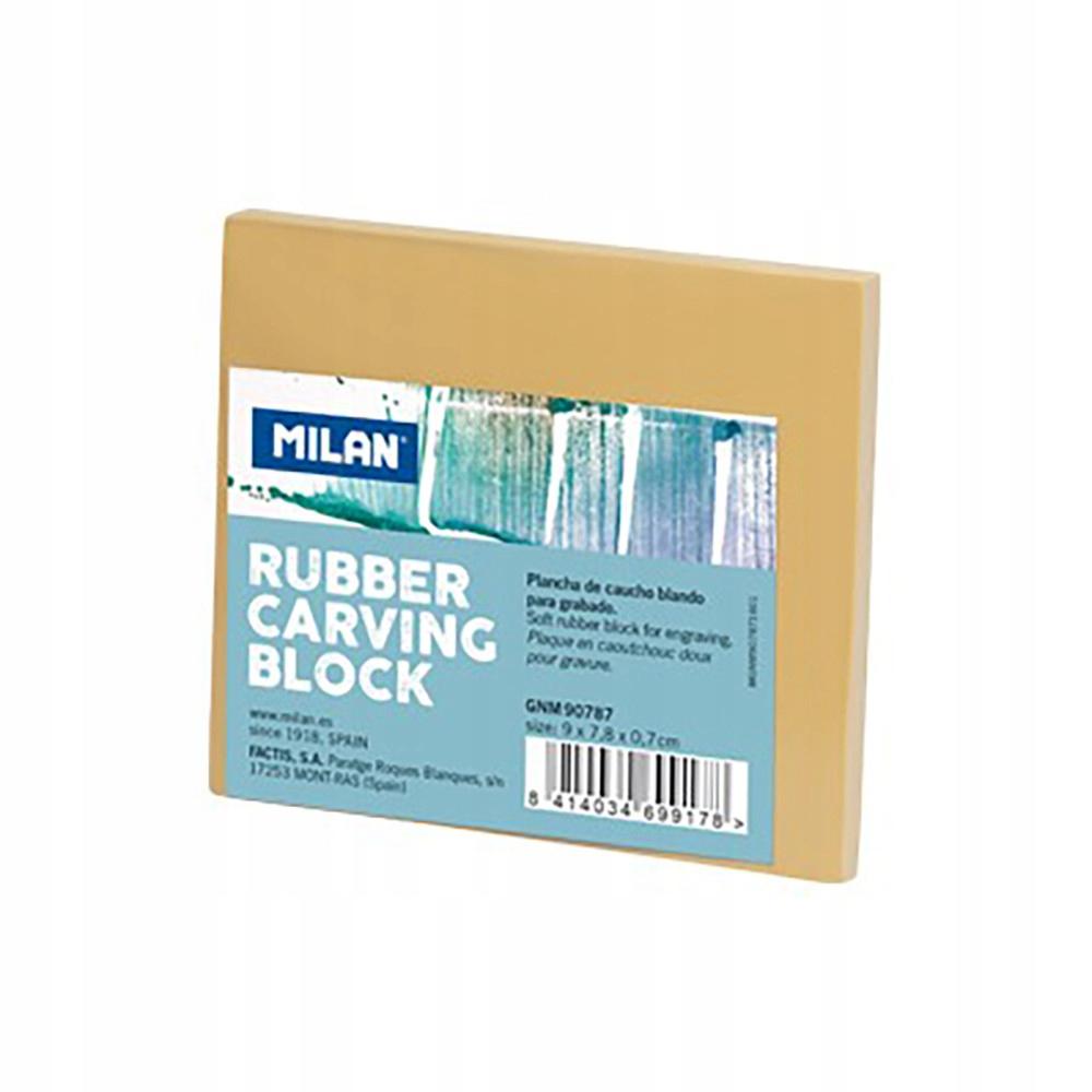 Blok do linorytu - Milan - gumowy, 9 x 7,8 cm