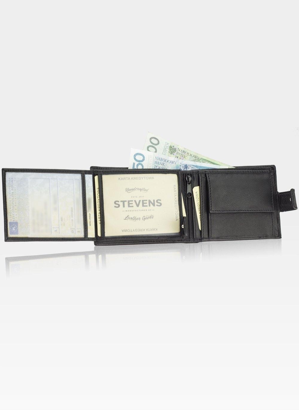 STEVENS GIFT SET Wallet Men's Belt LEATHER Color of fittings: silver
