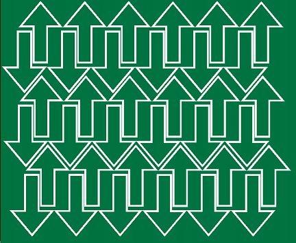 Naklejka strzałki strzałka 5x3cm 72szt fv zielony