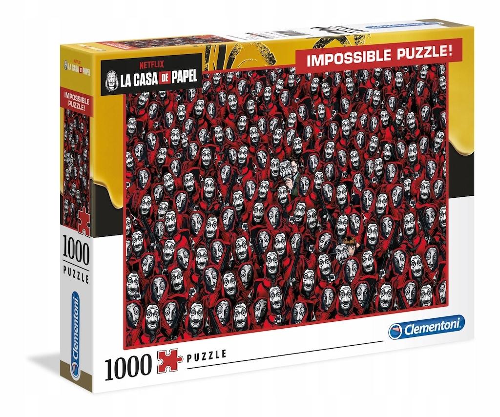 NEMOŽNÁ PUZZLA 1000 PAPIEROVÝ DOM CASA DE PAPEL