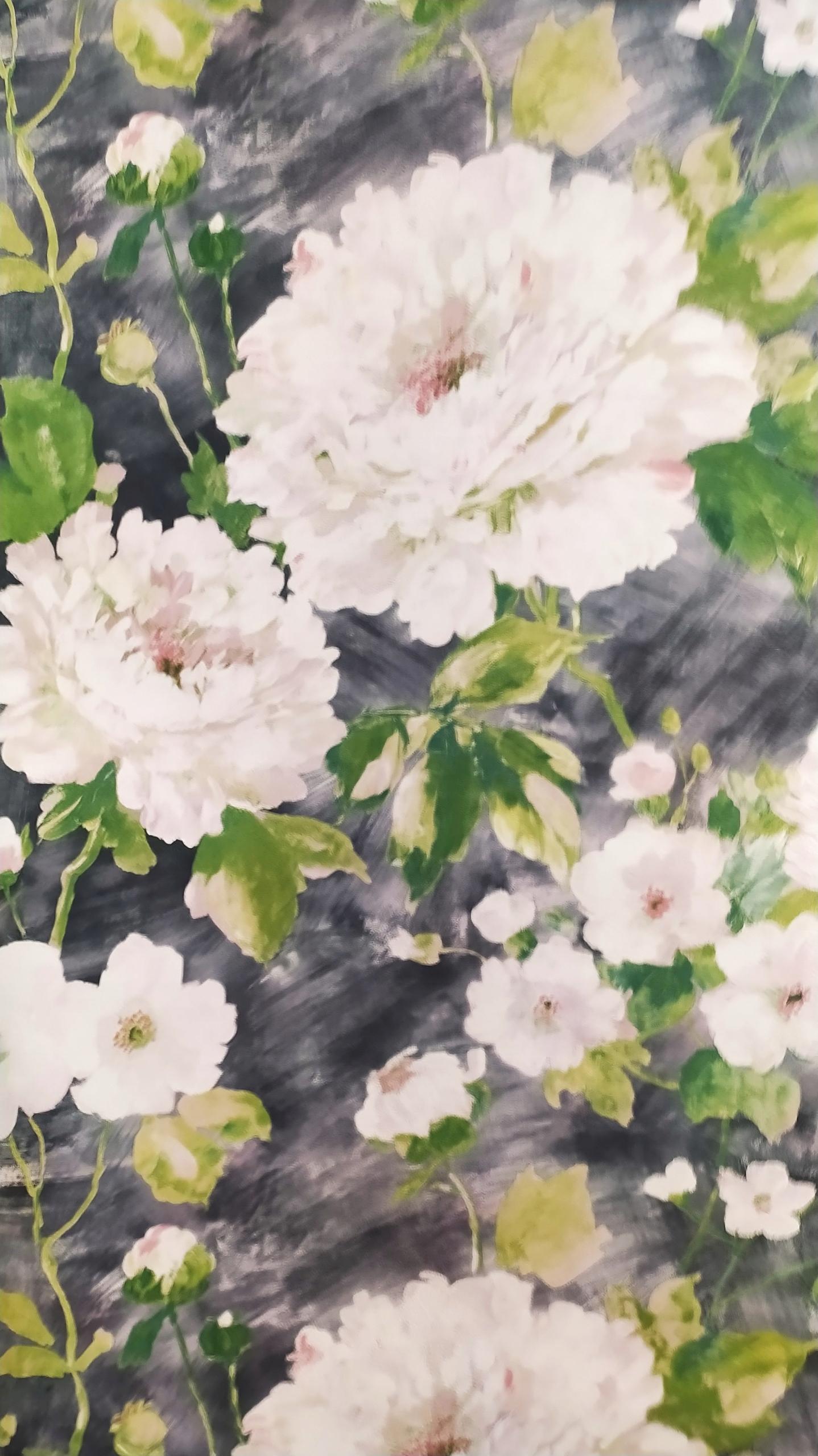 Цветы на флизелиновых обоях 178908