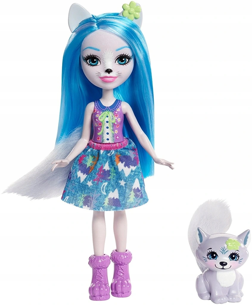 ENCHANTIMALS DOLL S ŽIVOČÍŠNYM vlkom FRH40