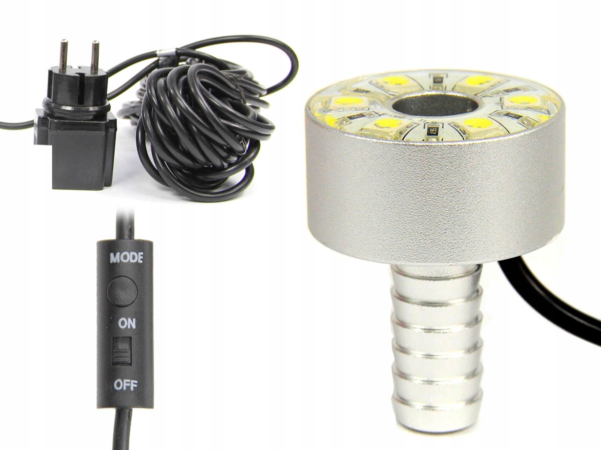 RING OŚWIETLENIE FONTANN 6 LED RGB 1,8W +STEROWNIK