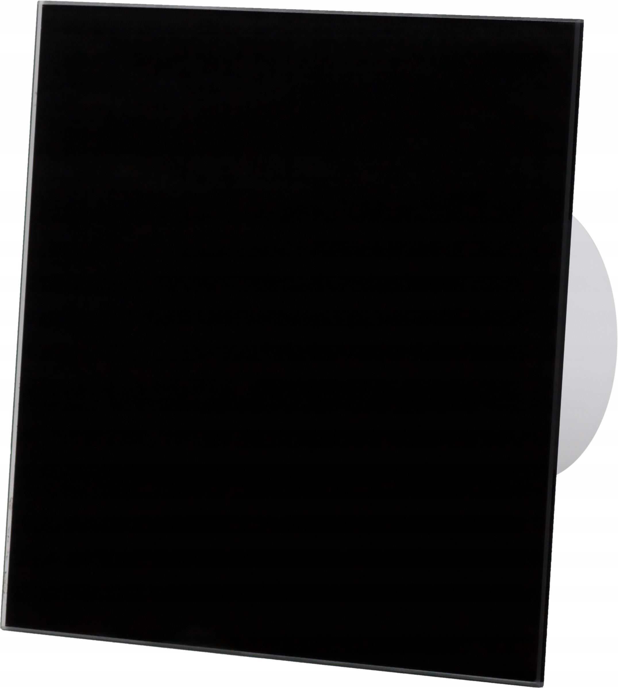 Kratka wentylacyjna 150x150mm czarny połysk szkło