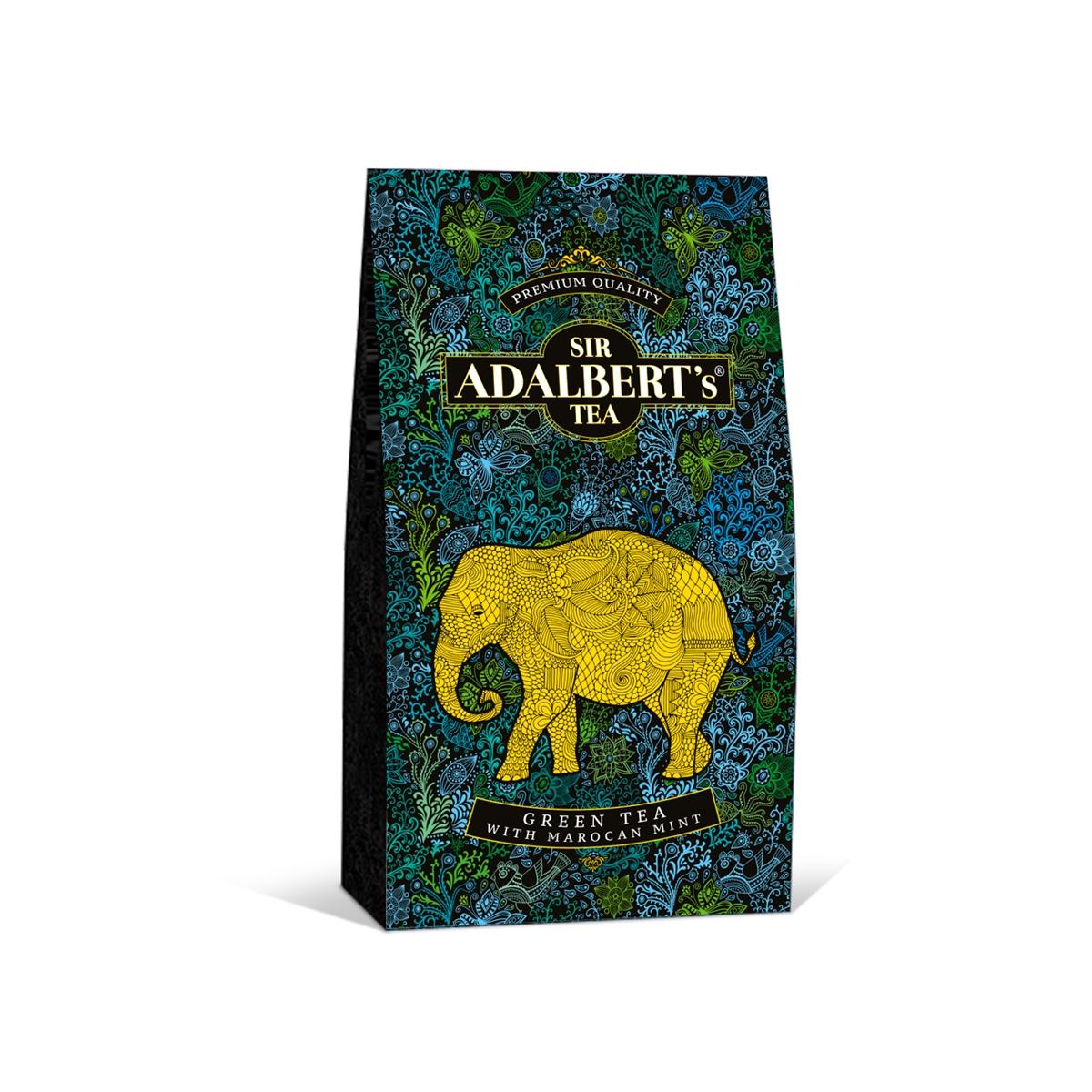 Чай сэра Адальберта с зелеными листьями мяты 100 г
