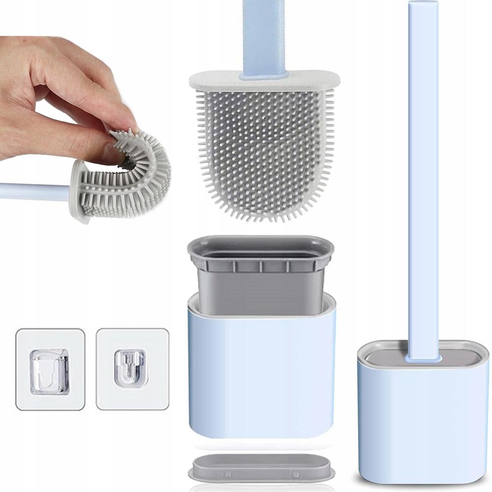 Szczotka SILIKONOWA toaletowa DO TOALETY WC uchwyt