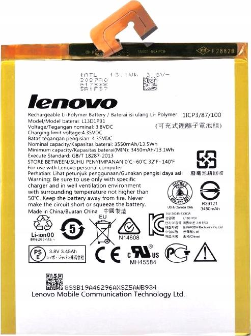 Bateria Lenovo L13D1P31 Lenovo Tab 2 A7-10 A7-50