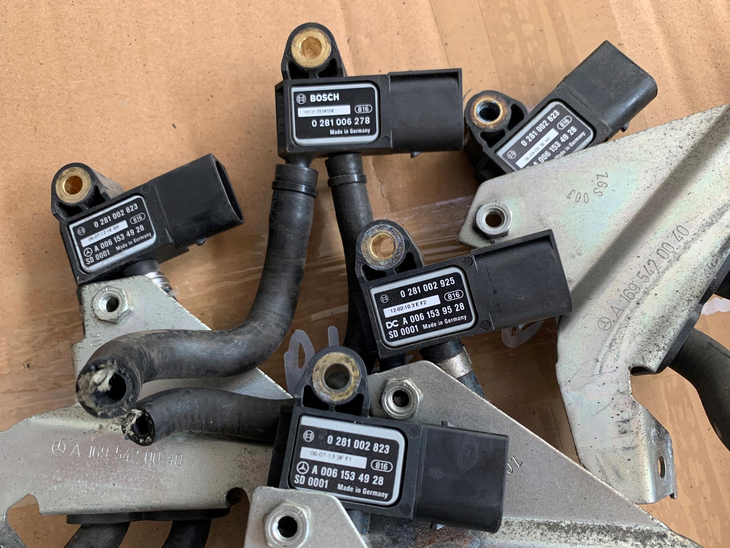mercedes датчик давления выхлопных газов фильтра dpf fap
