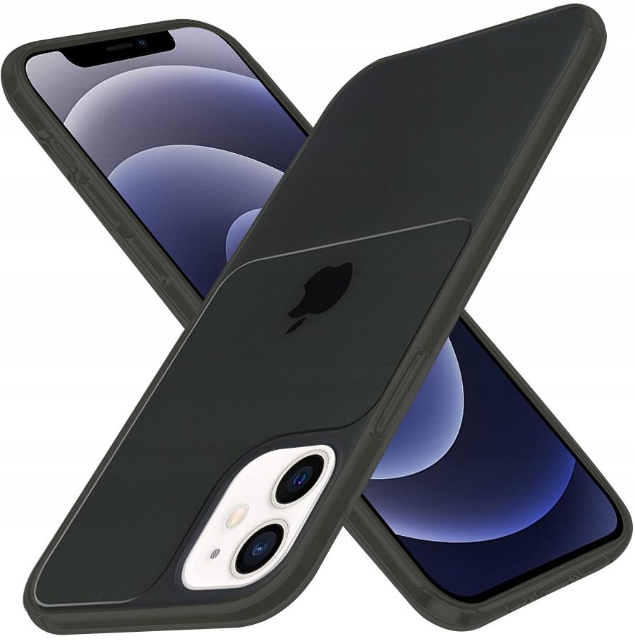 Etui do iPhone 12 Mini Case Silikon Guma + SZKŁO