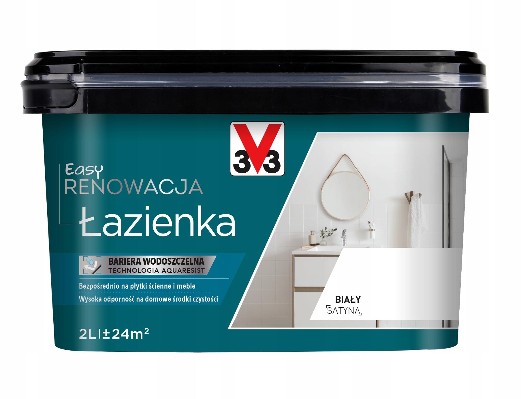 V33 Easy renowacja ŁAZIENKA 2L 6 kolorów + biały