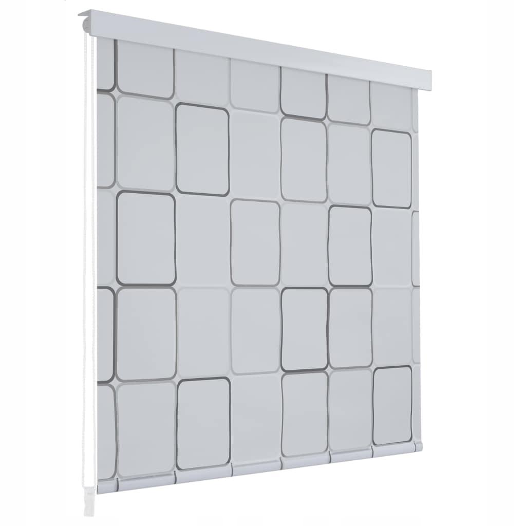 Sprchová roleta 160 x 240 cm, štvorcový vzor
