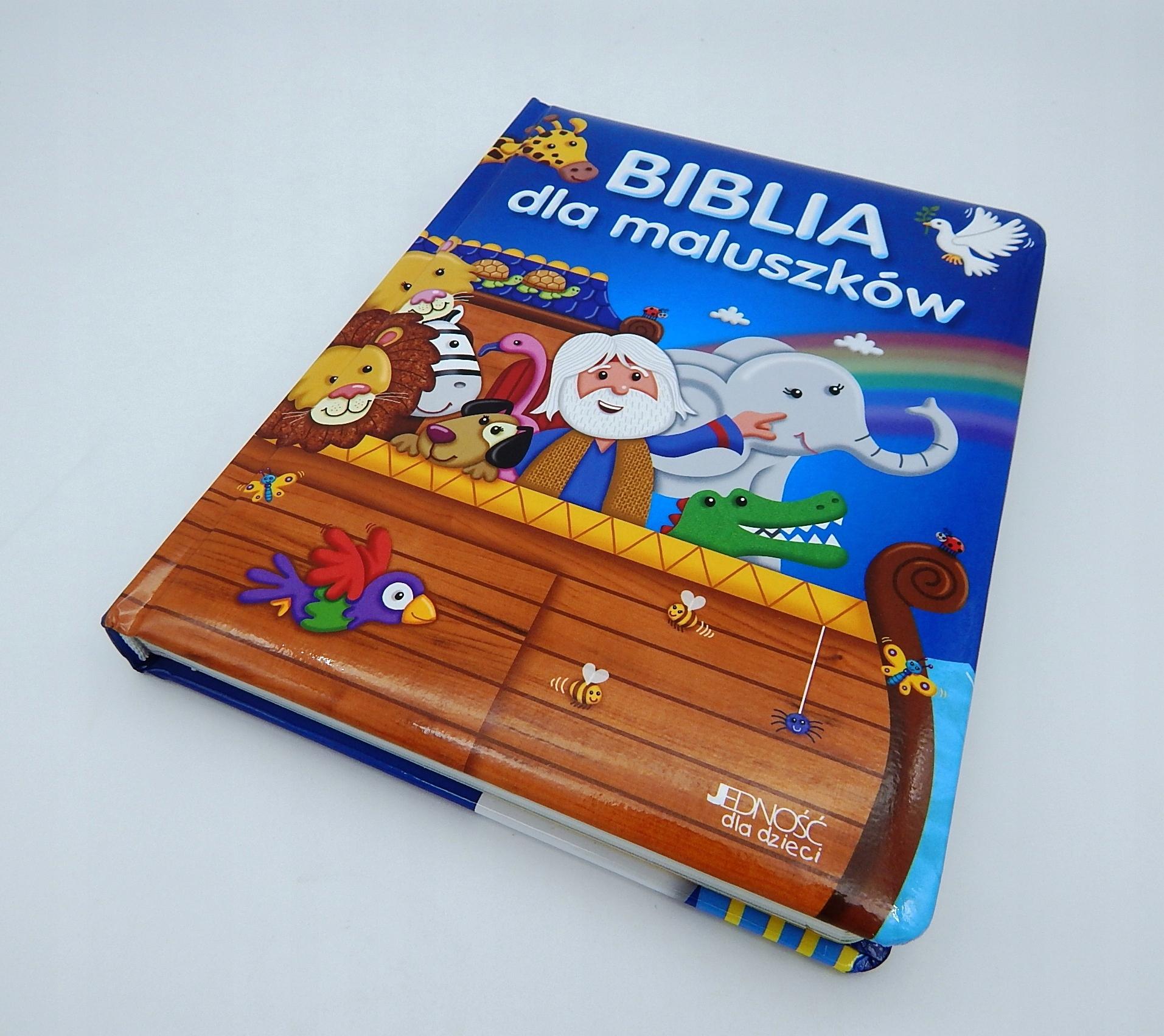 BIBLIA DLA MALUSZKÓW NA CHRZEST PREZENT + GRAWER ISBN 9788379715268