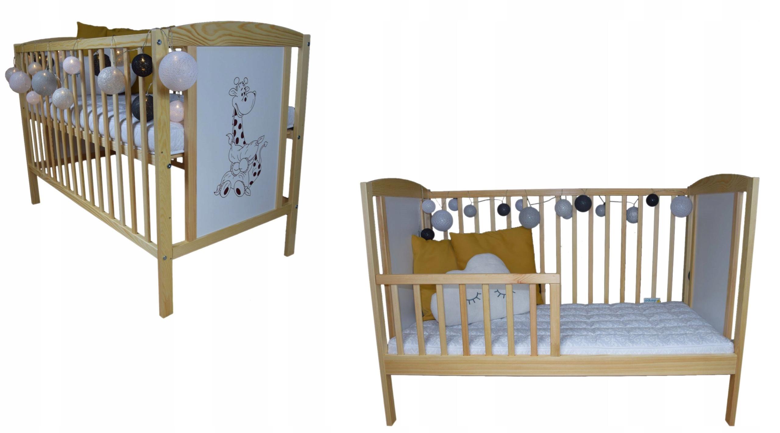 Детская кроватка БАЙКА СОСНА Б / СЗ + прикроватная тумбочка