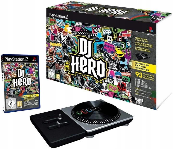 PROPAGÁCIA NOVINKA DJ HERO PLAYSTATION 2 PS2 GW FV