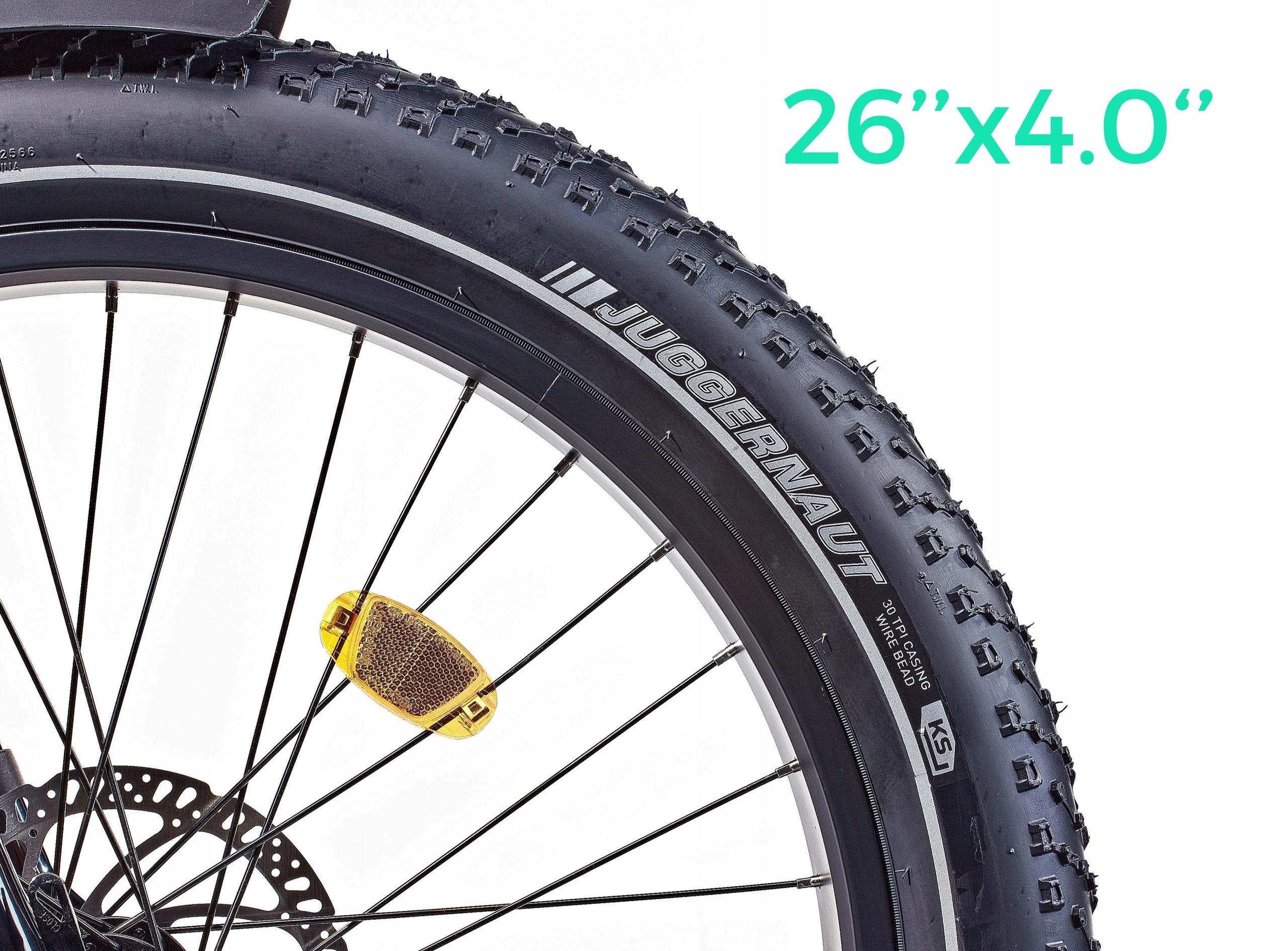 Rower elektryczny FatBike Robin Amortyzacja przód i tył