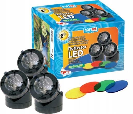 Happet Reflektor LED potrójny 3x1,6W