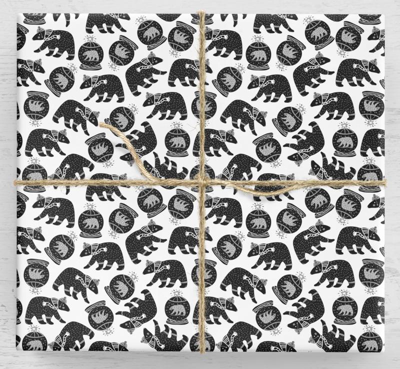 Vianočný darčekový baliaci papier s medveďom 10 listov