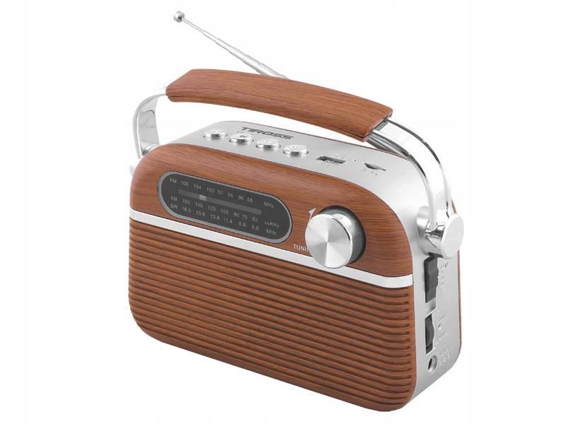 Rádio Prenosné Retro Bluetooth, MP3, USB