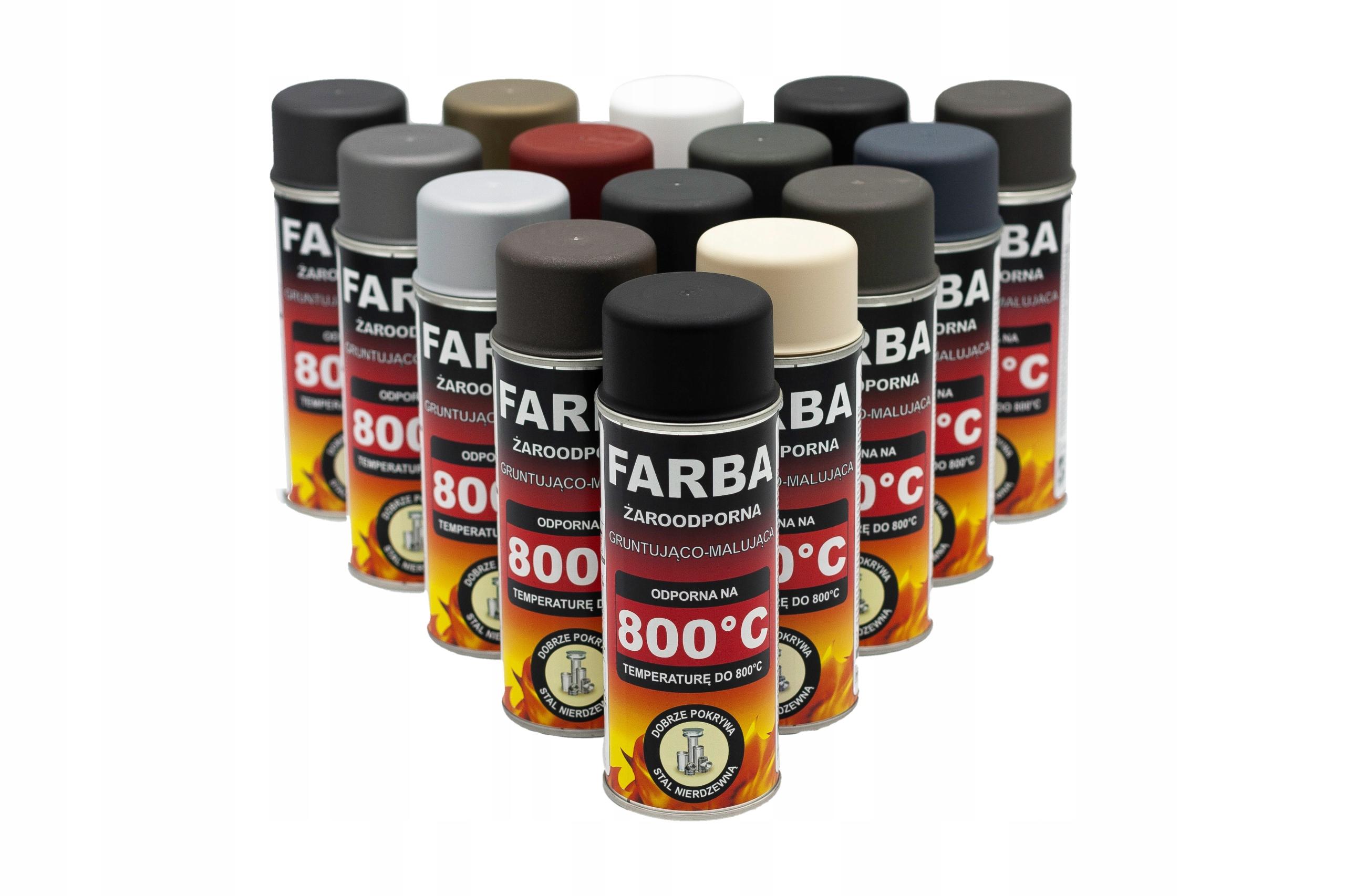 Жаростойкая краска для распыления 400 мл Hansa 16 цветов