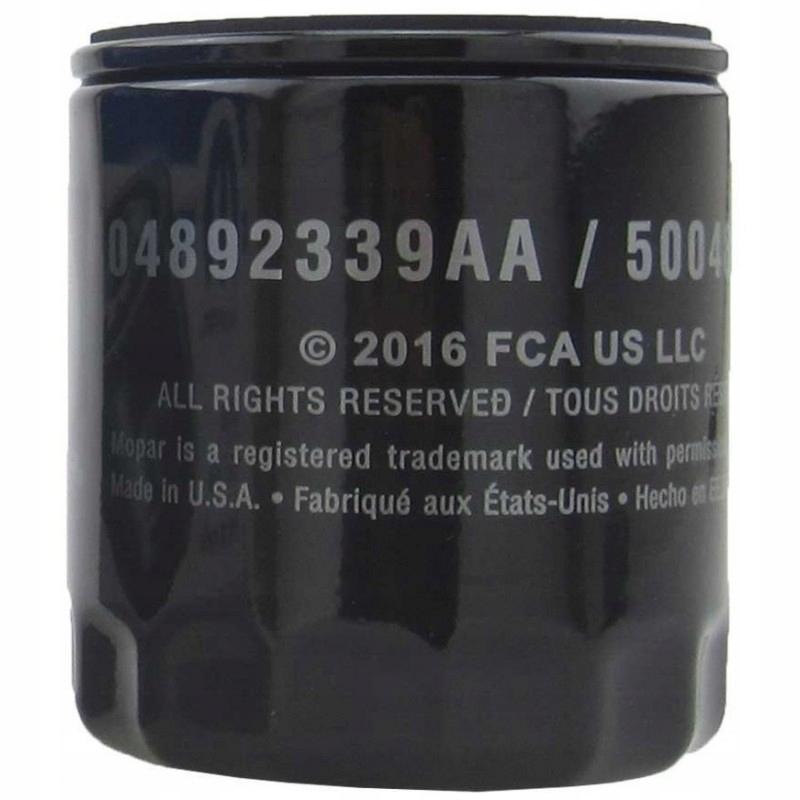 фильтр масла mopar mo-339 джип dodge 04892339aa