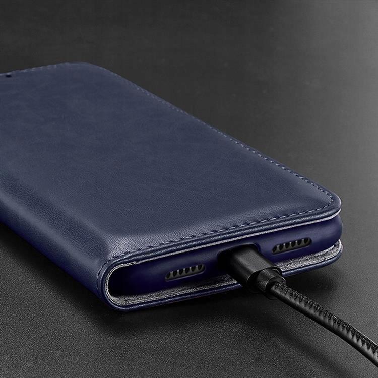 Etui Kado do iPhone 12 / 12 Pro niebieski + szkło Funkcje ładowanie indukcyjne