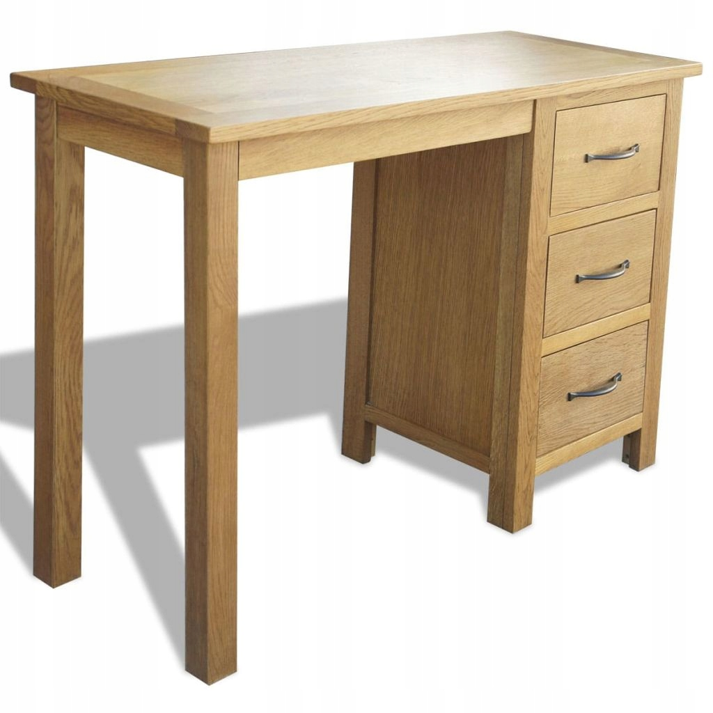 Písací stôl s 3 zásuvkami, 106x40x75 cm, masívneho dreva d
