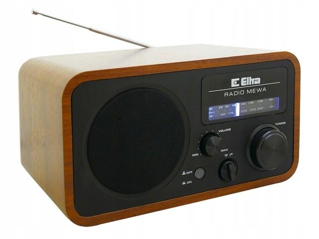 ELTRA Rádio prenosné retro black SEAGULL