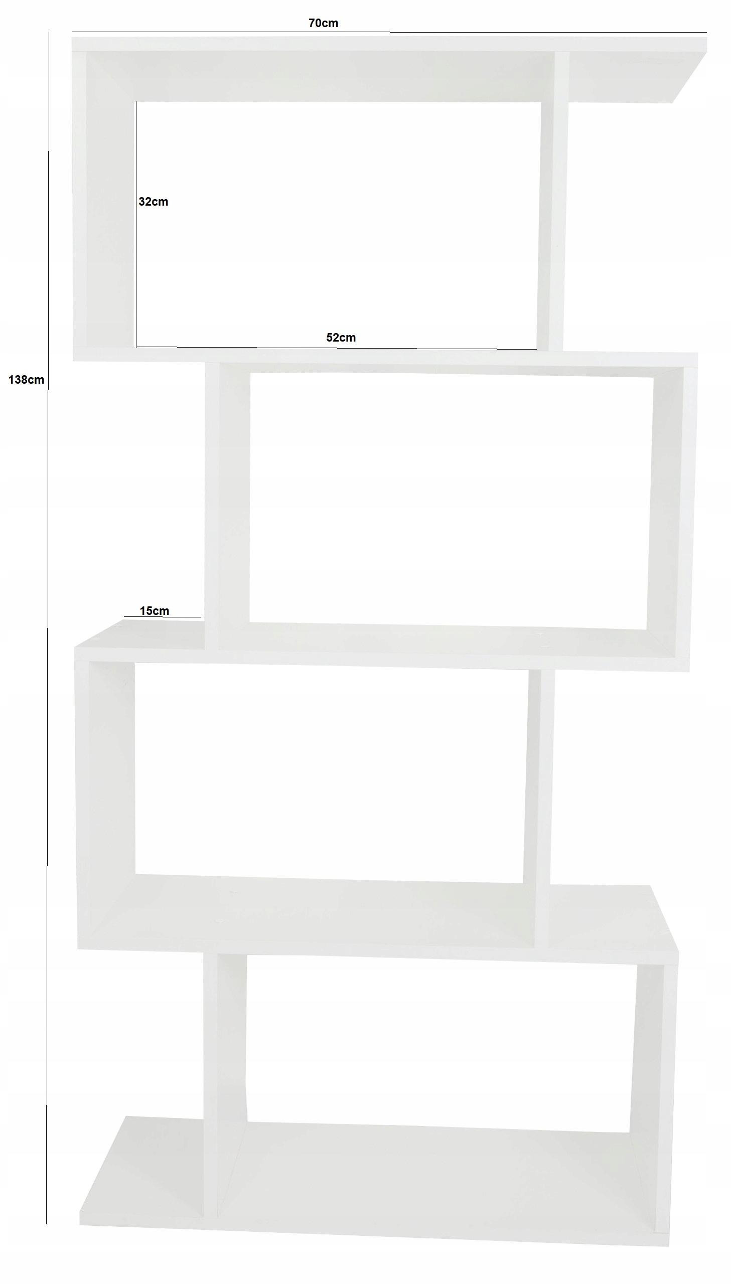 Regał na książki zabawki półka 3D Biała nowoczesny Kod producenta 1234