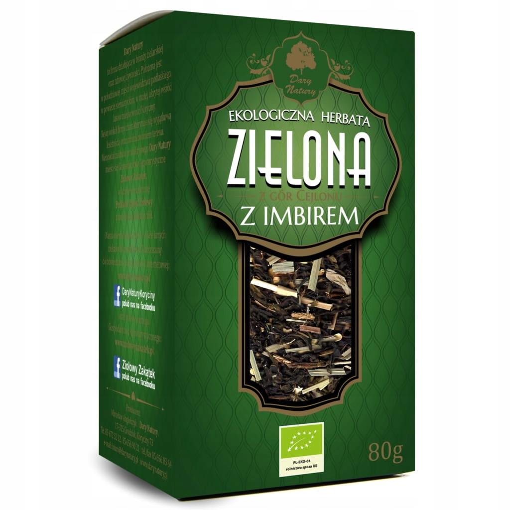 Зеленый чай с имбирем 80г EKO Dary Natury