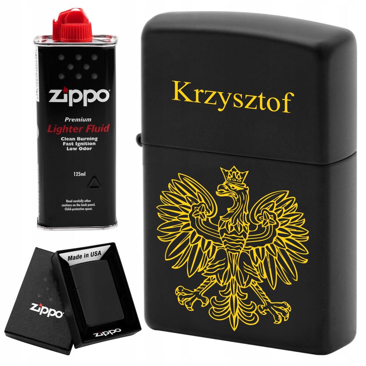 Zapalniczka Zippo 218 Black Matte Benzyna Grawer 7939849192 Allegro Pl