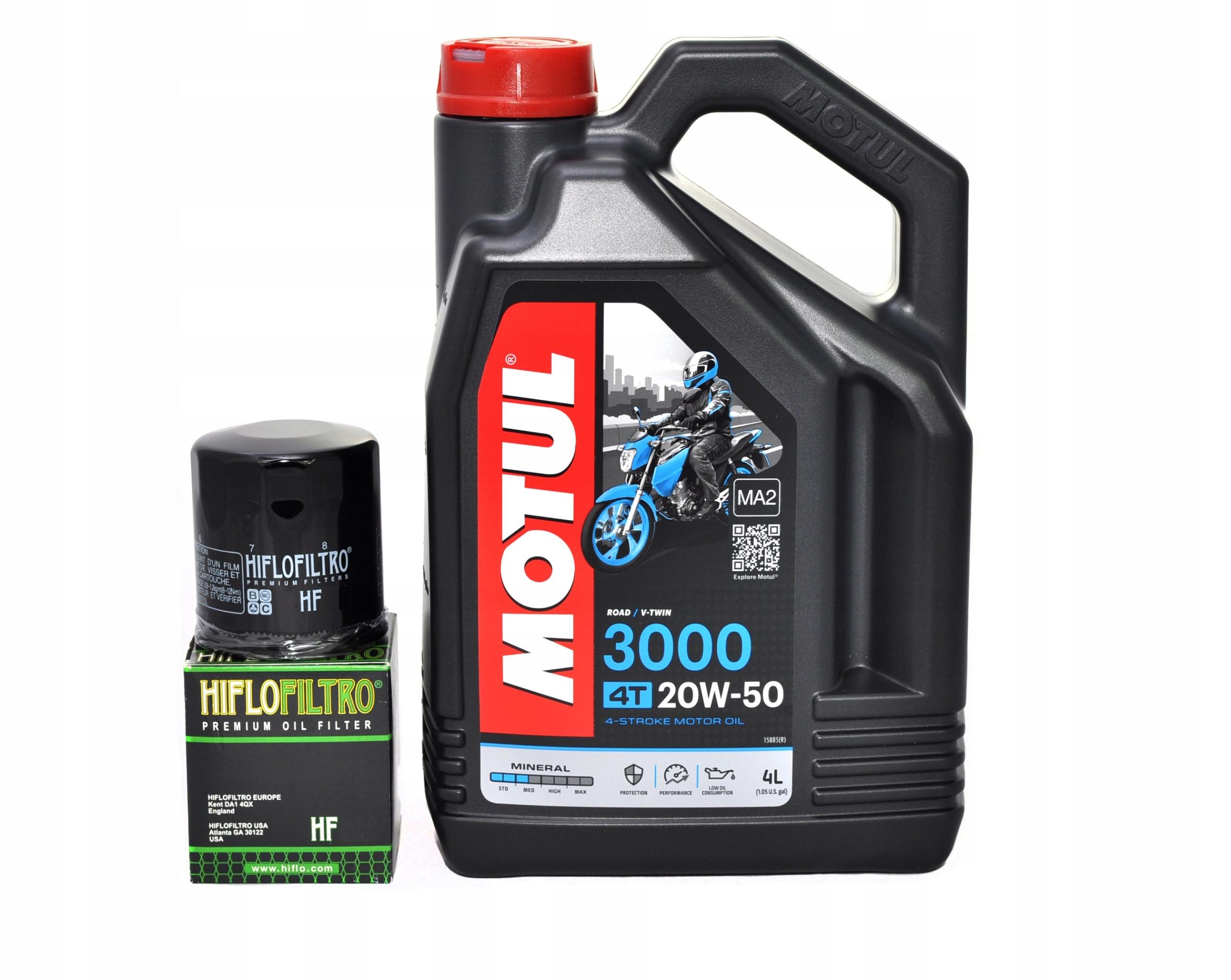 MOTUL OIL 3000 20W50 4L + YAMAHA XJ 900 FILTER