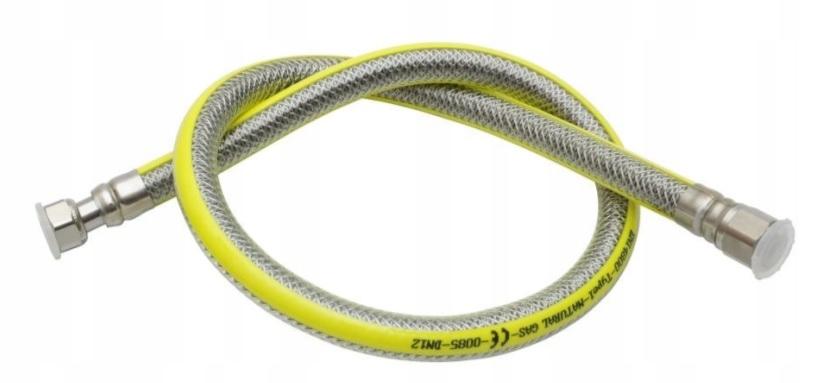Przewód GAZOWY ELASTYCZNY wąż gazu kuchenki 125cm